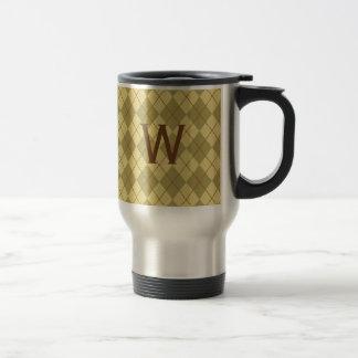 Regalo con monograma de la taza de café del viaje