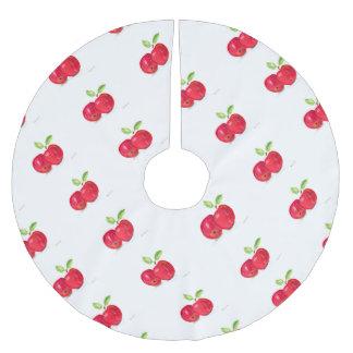 Regalo con sabor a fruta del jardinero de la falda para el árbol de navidad de poliéster