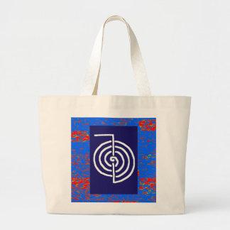 Regalo curativo básico de la PLANTILLA del símbolo Bolsa Lienzo