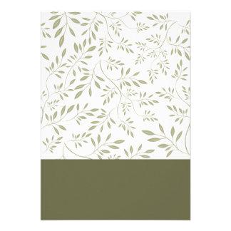 Regalo de boda floral expresivo de las hojas del v anuncios personalizados