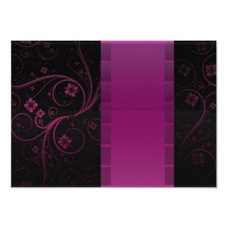 Regalo de boda marrón elegante del damasco invitación 12,7 x 17,8 cm