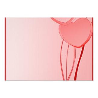 Regalo de boda rojizo precioso de los corazones invitación 12,7 x 17,8 cm