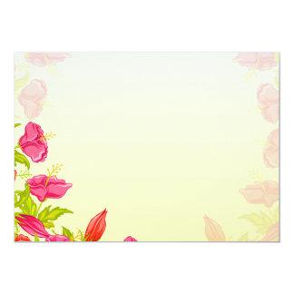 Regalo de boda rosado perfecto del flor invitación 12,7 x 17,8 cm