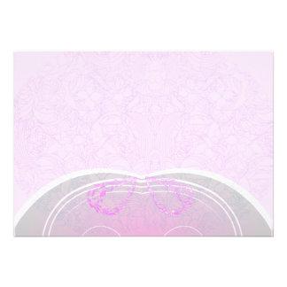 Regalo de boda rosado y gris expresivo del damasco anuncios