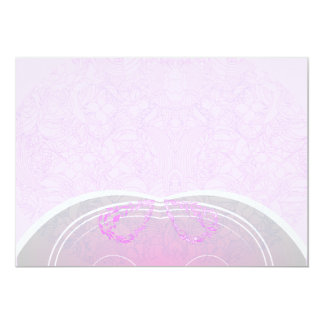 Regalo de boda rosado y gris expresivo del damasco invitación 12,7 x 17,8 cm
