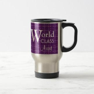 Regalo de calidad mundial del personalizado de tía taza de café