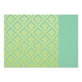 Regalo de cumpleaños amarillo perfecto del damasco invitación 12,7 x 17,8 cm