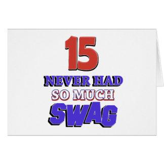 Regalo de cumpleaños de 15 años tarjeta de felicitación