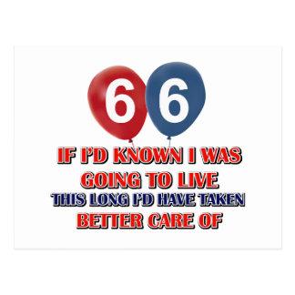 Regalo de cumpleaños divertido de 66 años postal