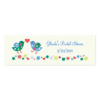 Regalo de dos pájaros o tarjeta del favor tarjetas personales