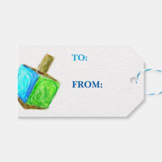 Regalo de Dreidel Etiqueta-Horizontal Etiquetas Para Regalos