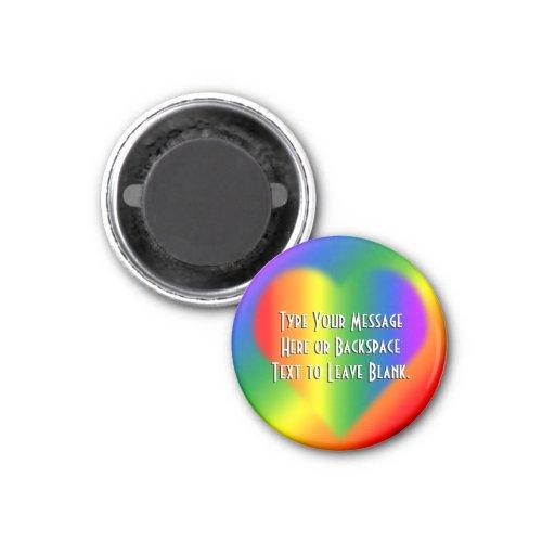 Regalo de encargo del amor del arco iris de los im imán para frigorifico