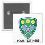 Regalo de encargo del tenis para el club o el torn pin