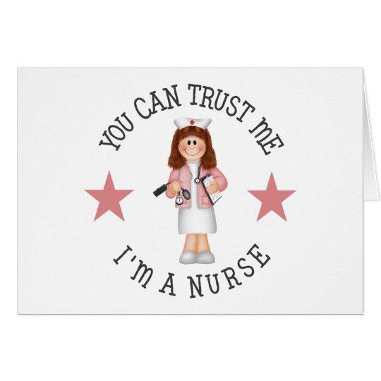 Regalo de la enfermera tarjeta de felicitación