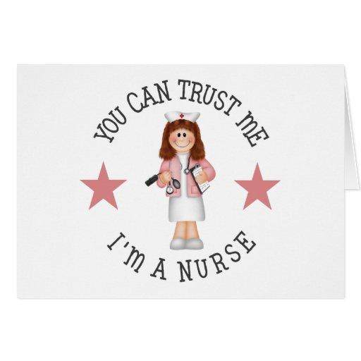 Regalo de la enfermera tarjetón