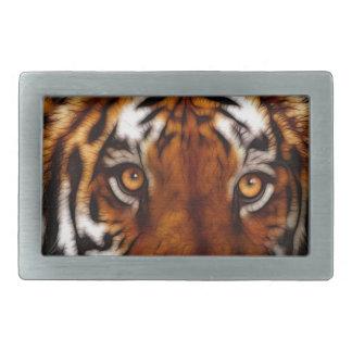 Regalo de la fauna del gato grande del tigre hebillas de cinturon rectangulares