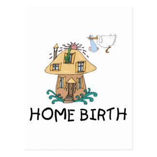 Regalo de la maternidad del nacimiento casero postal