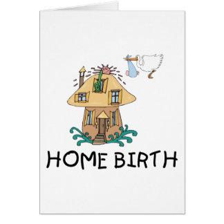 Regalo de la maternidad del nacimiento casero tarjeta de felicitación