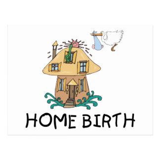 Regalo de la maternidad del nacimiento casero postales
