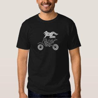 Regalo de la silueta del motocrós del estilo libre camisas