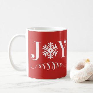 Regalo de la taza del copo de nieve de la alegría