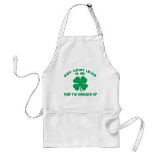 Regalo de maternidad irlandés delantal