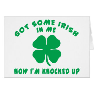 Regalo de maternidad irlandés tarjetón