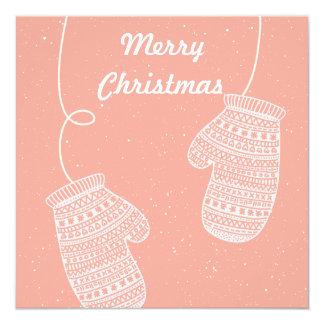 Regalo de Navidad de los guantes de las Felices Invitación 13,3 Cm X 13,3cm