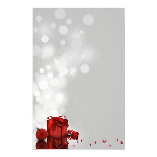 Regalo de Navidad precioso - papel con membrete de