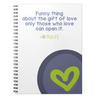 Regalo del amor cuadernos