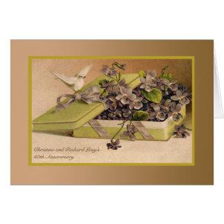Regalo del amor - invitación del aniversario de la tarjeta pequeña