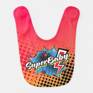 Regalo del babero del bebé del super héroe, AZUL