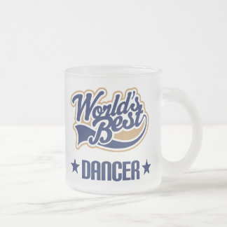 Regalo del bailarín (mundos mejores) taza de cristal esmerilado