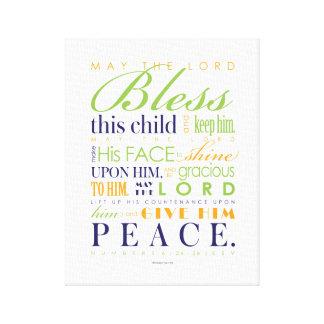 Regalo del bautismo - impreso ya en la lona 11x14 lona envuelta para galerías