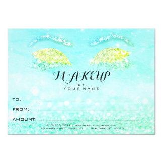 Regalo del certificado del maquillaje del brillo invitación 11,4 x 15,8 cm