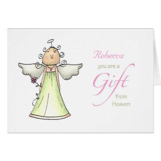 Regalo del cielo, nombre del personalizado del ani tarjeta de felicitación
