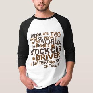 Regalo del conductor de stock car camisas