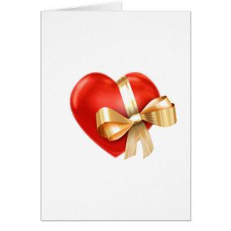 Regalo del corazón tarjeta de felicitación