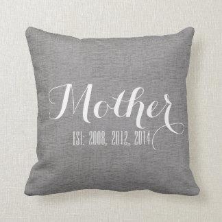 Regalo del día de madre personalizada lino del bla cojin