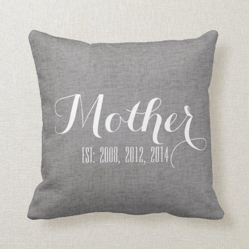 Regalo del día de madre personalizada lino del cojin