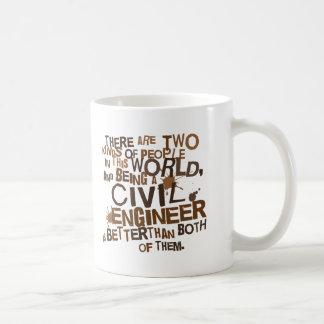 Regalo del ingeniero civil taza de café