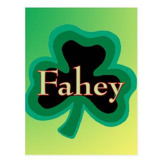 Regalo del irlandés de Fahey Postal