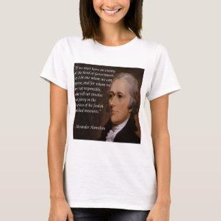 """Regalo del """"líder enemigo"""" de Alexander Hamilton Camiseta"""