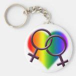 Regalo del llavero LGBT del amor del arco iris del