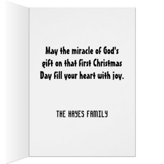 Regalo del navidad de dios tarjeta de felicitación