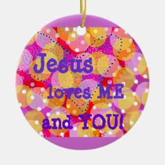 Regalo del ornamento/religioso adorno navideño redondo de cerámica