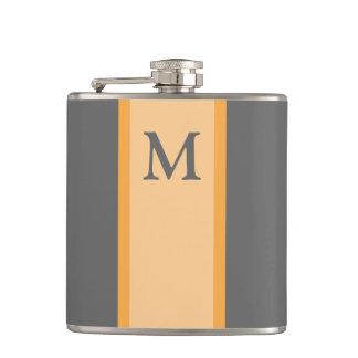 Regalo del padrino de boda del frasco del monogram petaca