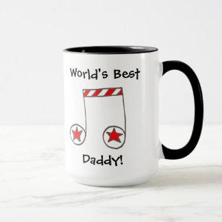 Regalo del papá del mundo de la nota musical de la taza