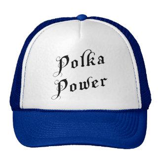 Regalo del poder de la polca gorras de camionero