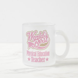 Regalo del profesor de la educación física (mundos taza de café esmerilada